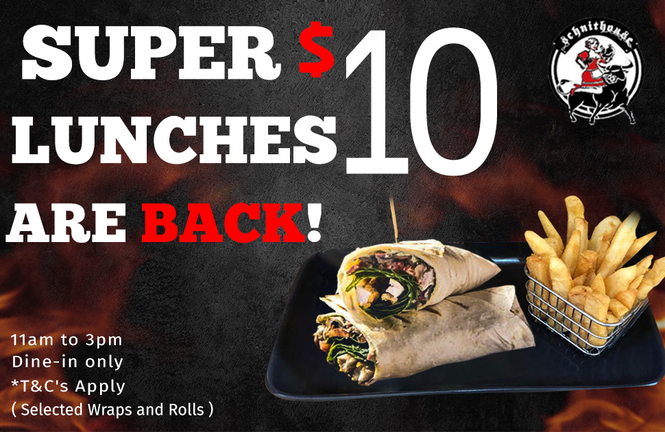 $10 Lunches Are Back at Schnithouse