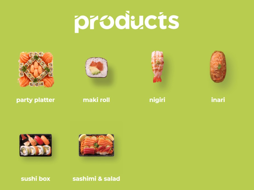 Sushi Hub Products