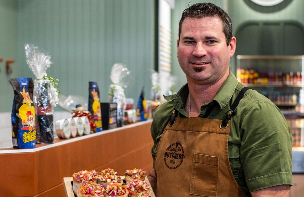 Meet David Snow, proud owner of Cutting Edge Butchers
