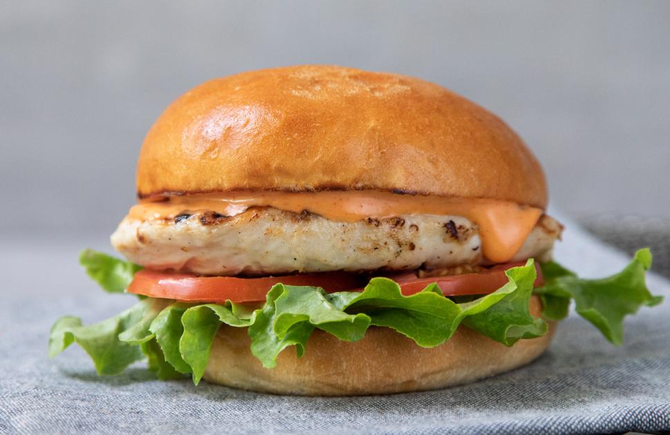 Bucking Bull's NEW Grilled Chicken Burger