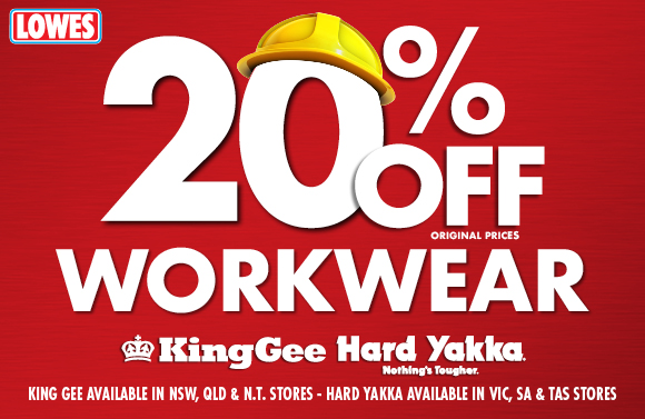 Lowes Back to Work sale now on!