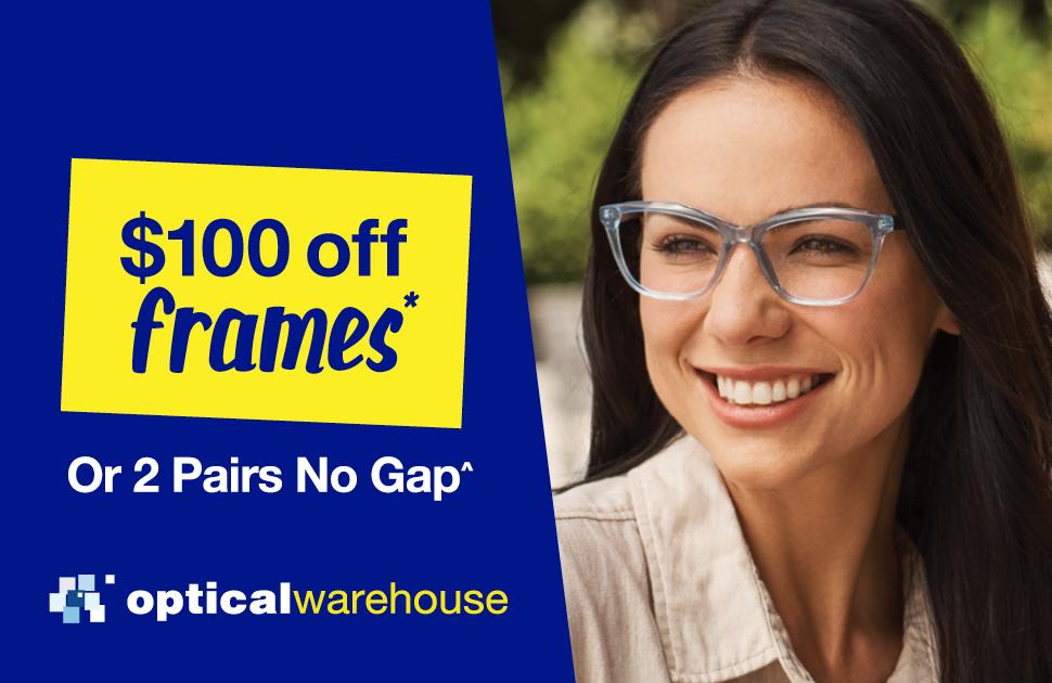 $100 off frames