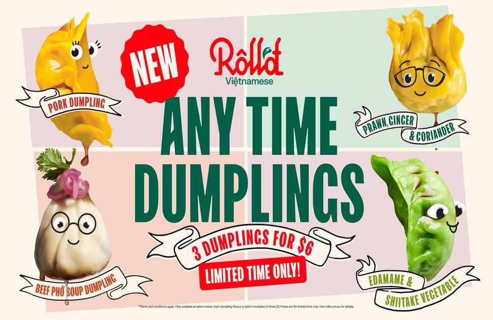 NEW Dumplings at Roll'd