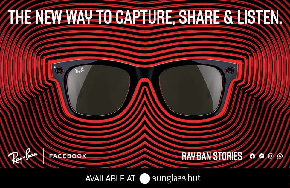 Ray-Ban's Smart Glasses Now Available at Sunglass Hut