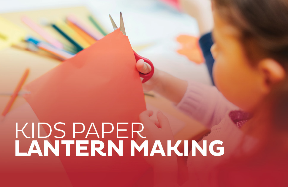 Kids Paper Lantern Making