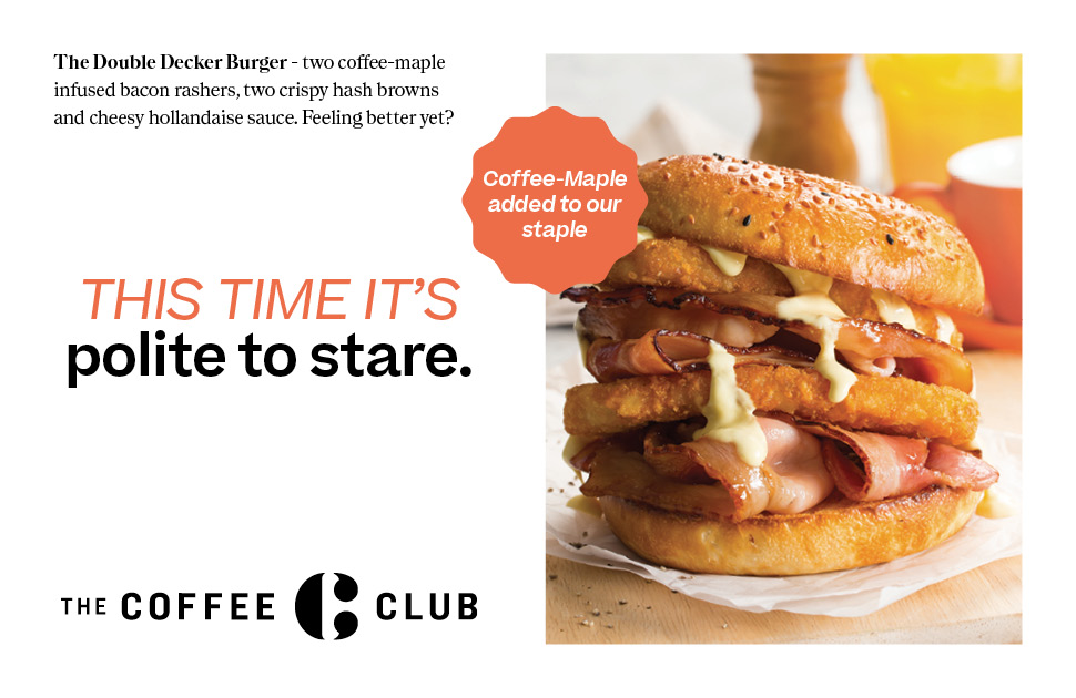 The Coffee Club's Delicious Burgers