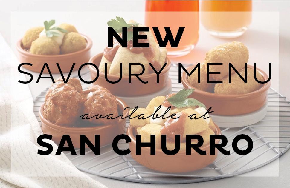 Savoury Menu at San Churro