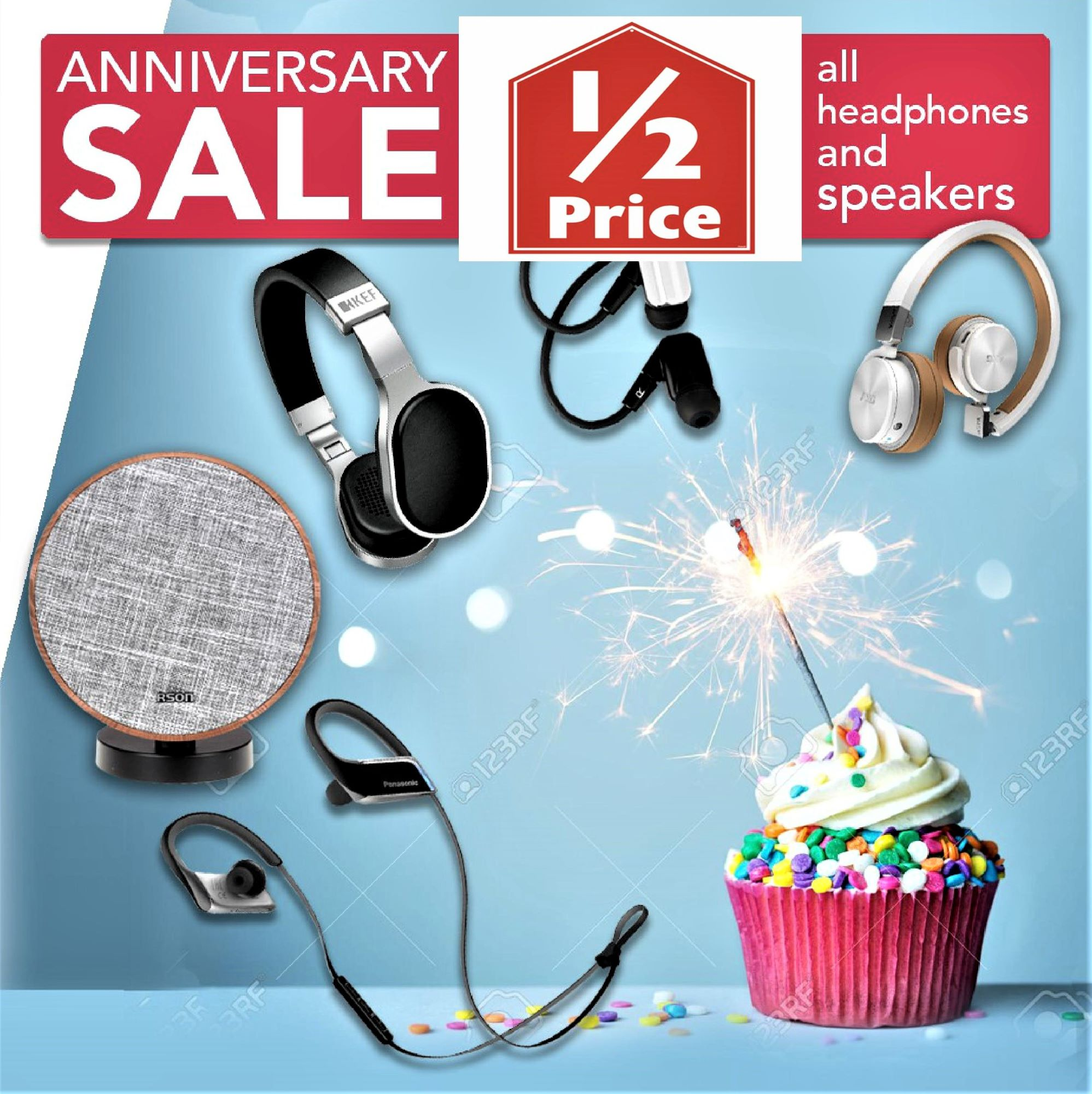 50% OFF TOP BRANDS -Headphones, Ear Buds & Speakers