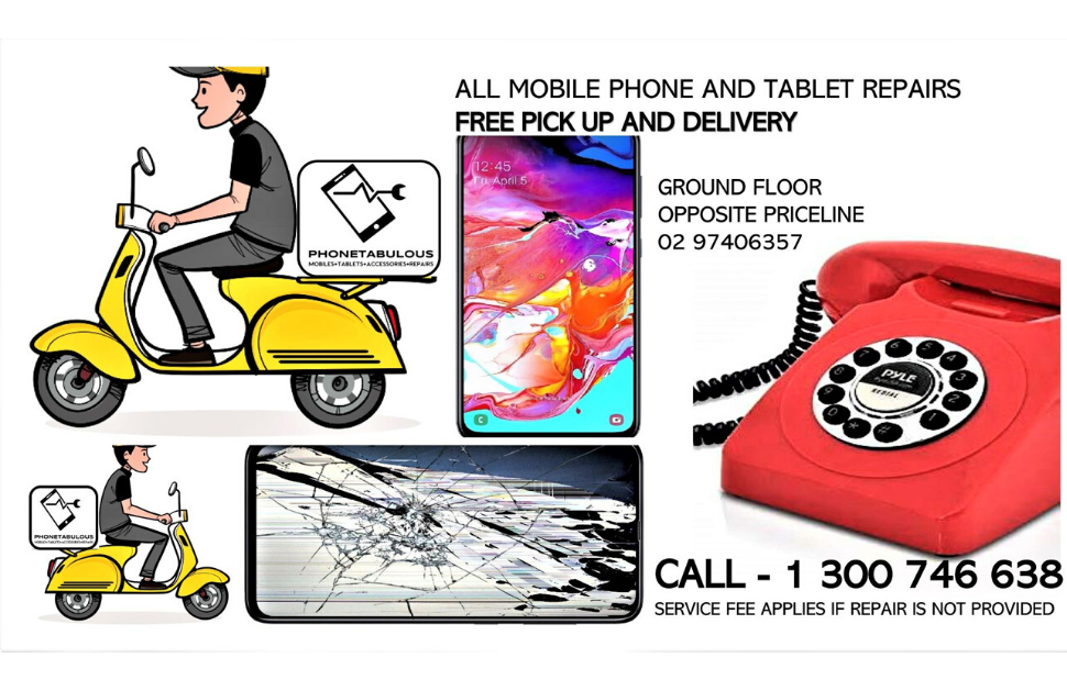 Phonetabulous FREE Pick up & Delivery for Repairs