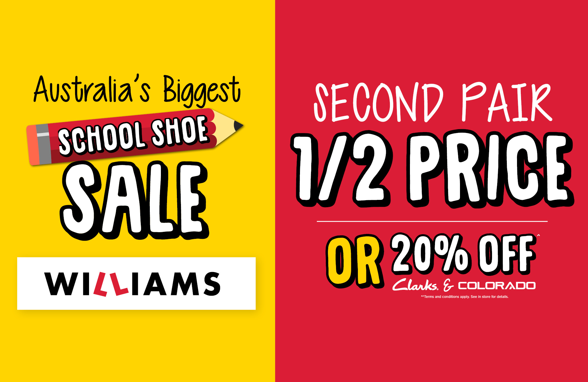 Williams Back to School offer