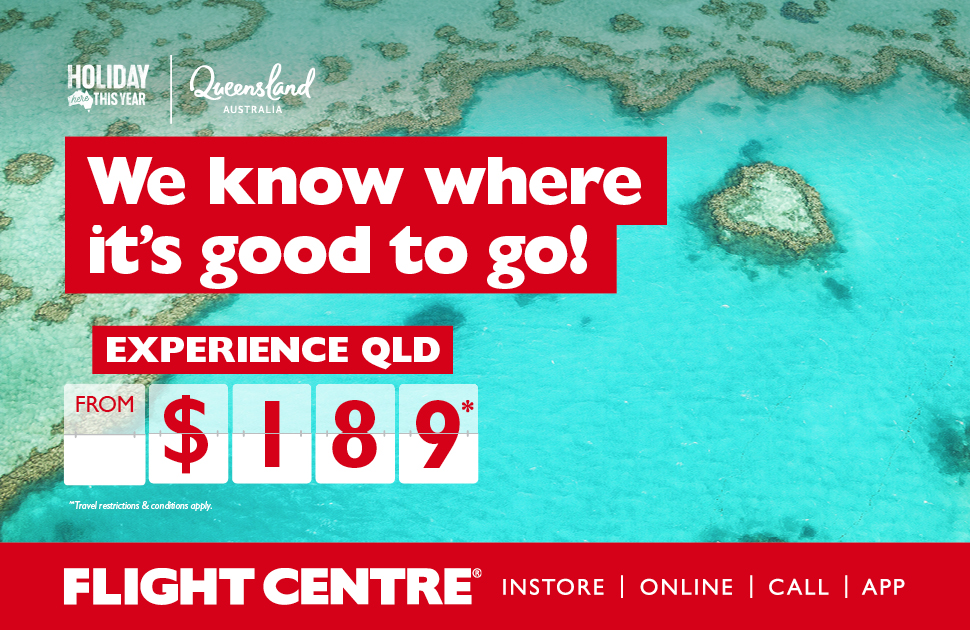 Go Troppo! QLD on sale at Flight Centre.