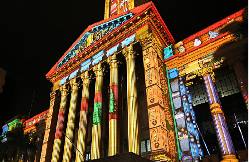 Gold Lotto City Hall Lights