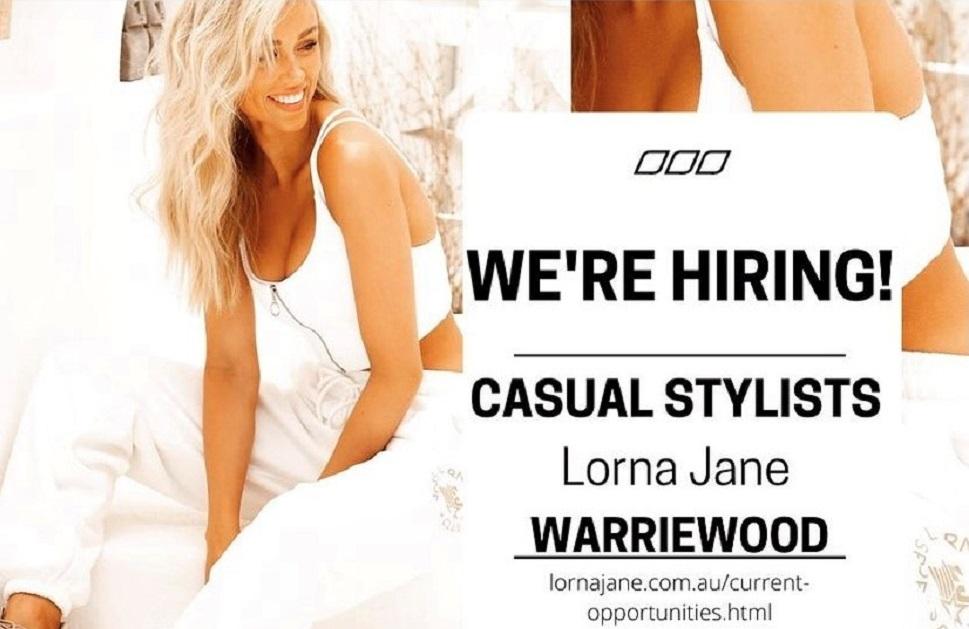 Lorna Jane is hiring