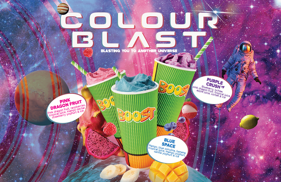 Boost Juice x Colour Blast