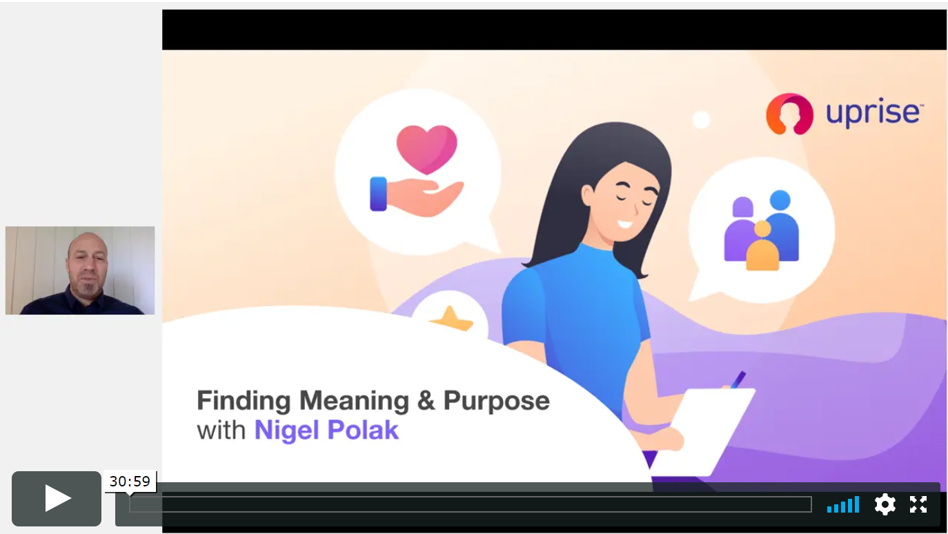 Webinar on Finding meaning and purpose
