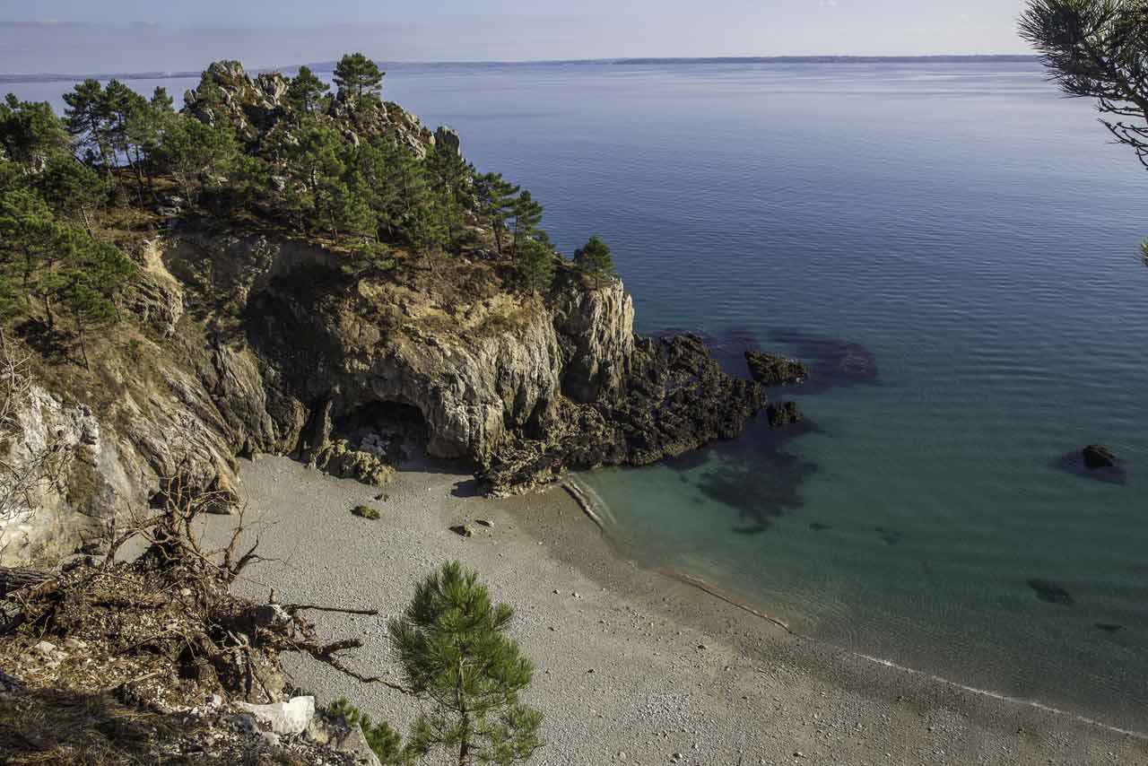 La plage de l'île Vierge à Crozon