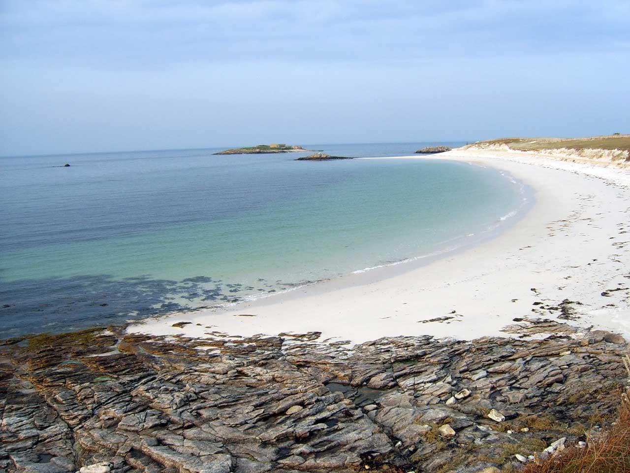 La plage de Saint-Nicolas à Les Glénan