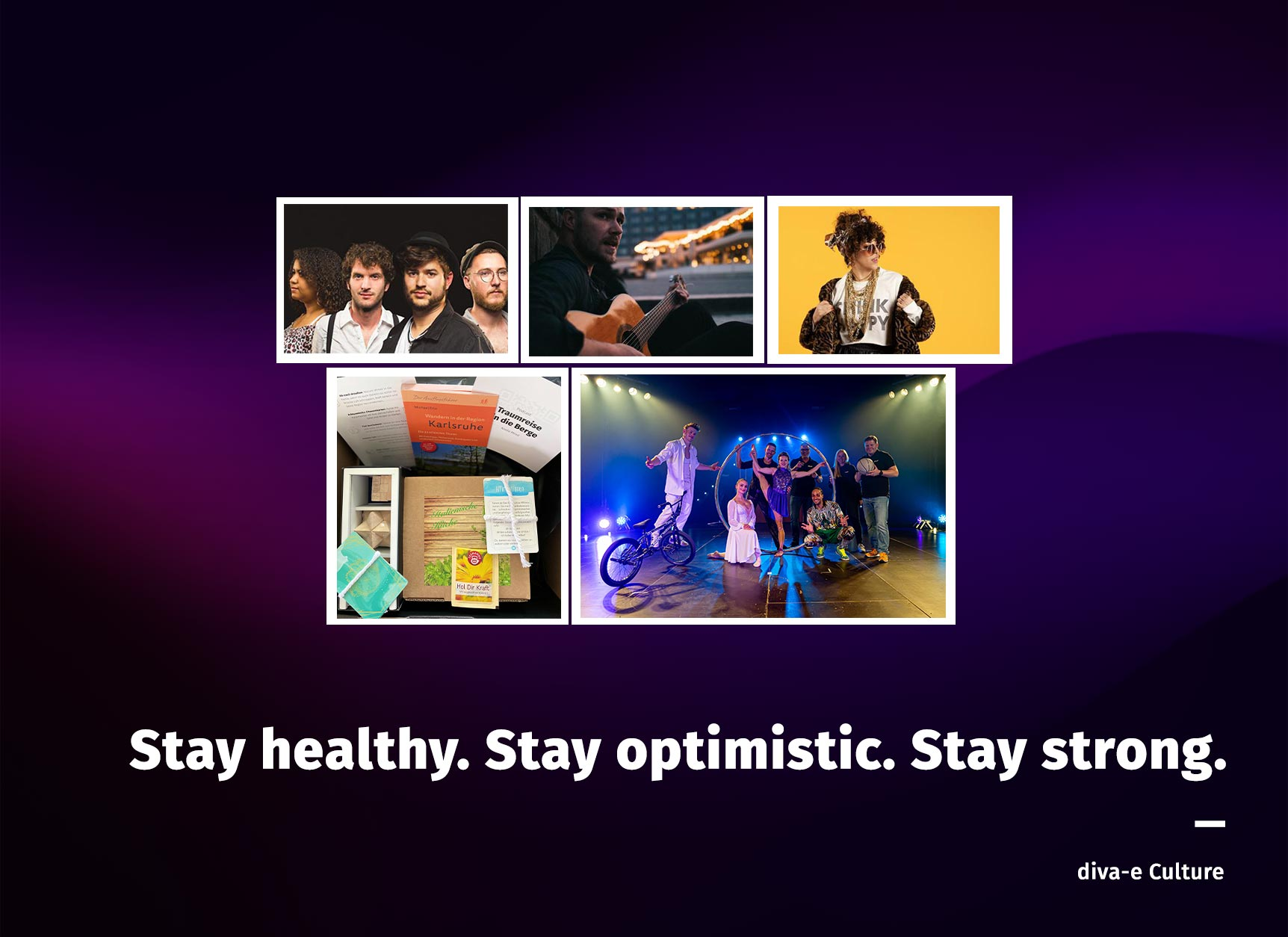 Stay healthy. Stay optimistic. Stay strong.