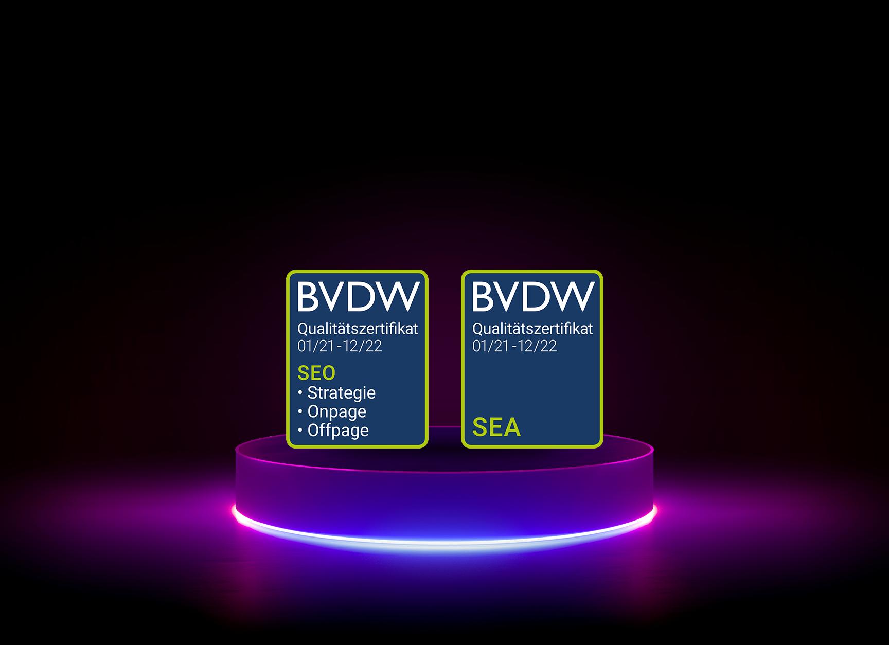 diva-e erneuert BVDW-Qualitätszertifikatein den Bereichen SEO und SEA