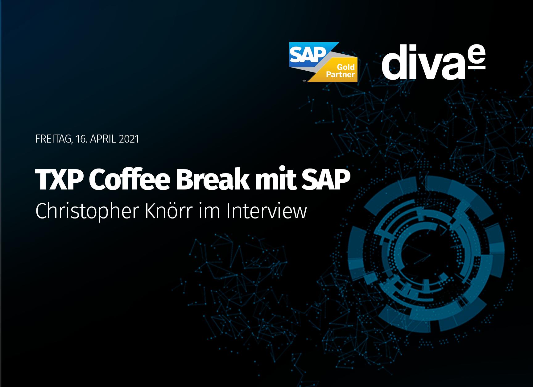 diva-e TXP Coffee Break mit SAP