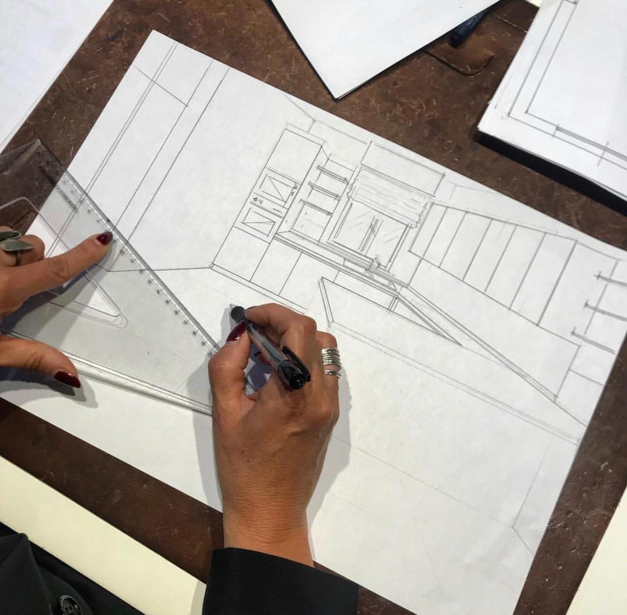 Dettaglio di lavorazione di un progetto di Primo Piano Open House Pesaro
