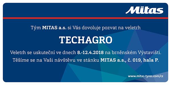 Mitas pozvánka na Techagro Brno 2018