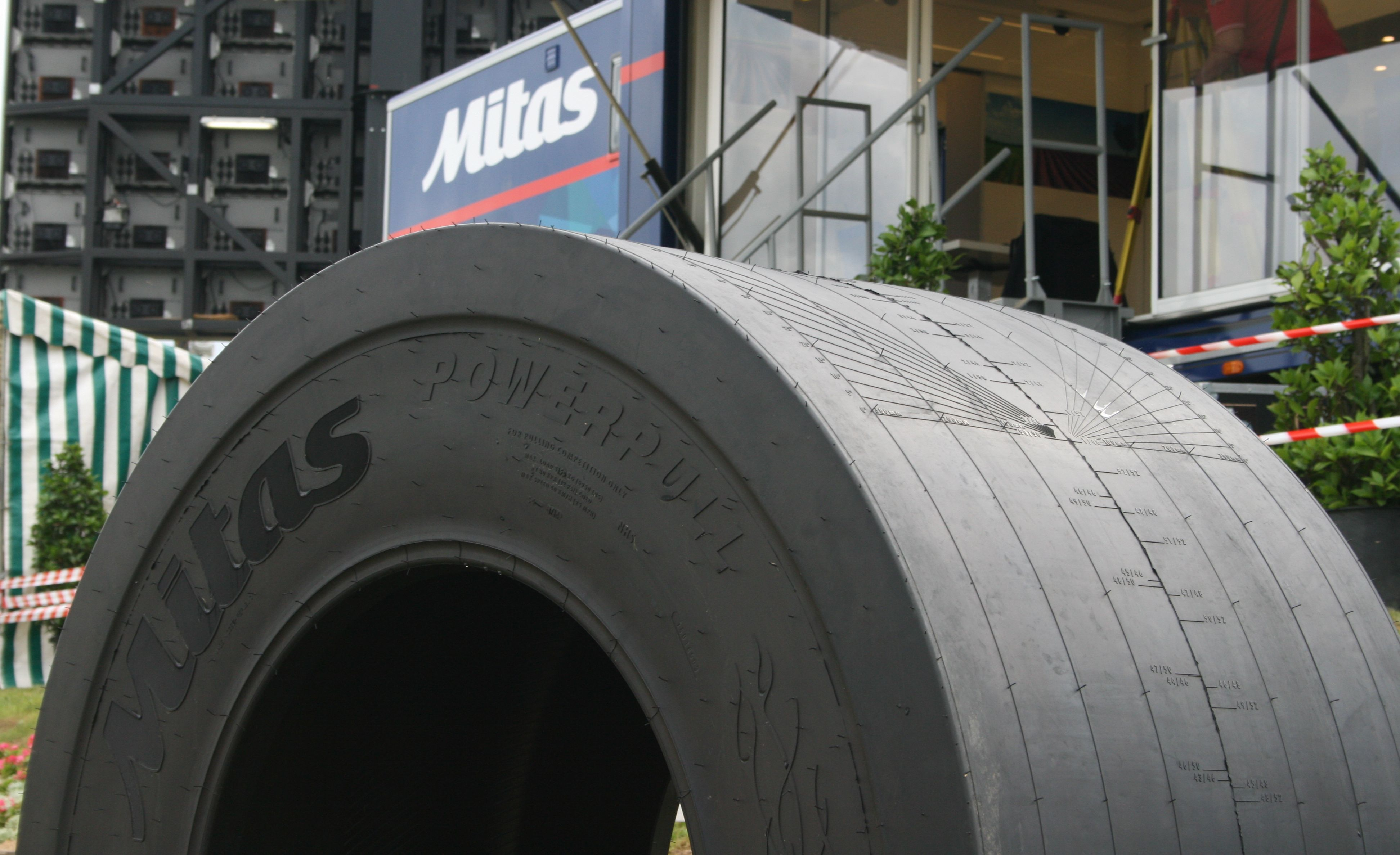 Mitas Powerpull will be produced without a tread pattern as a slick tire