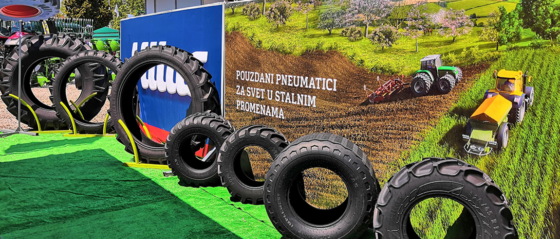 Mitas tyres at the Agricultural Fair in Serbia