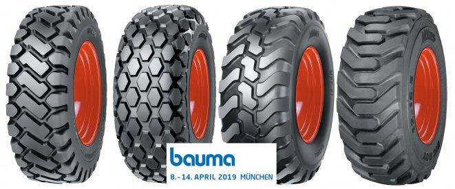Mitas představí na veletrhu Bauma své EM pneumatiky