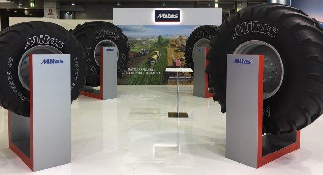 Mitas představuje jednu z největších zemědělských pneumatik na světě na veletrhu EIMA 2018