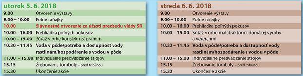 Celoslovenské dny pole-agenda