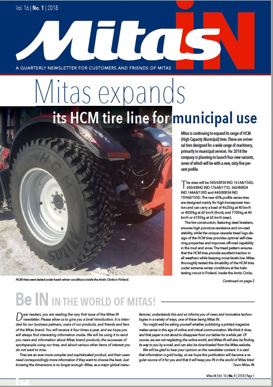 Mitas IN_01 Newsletter!