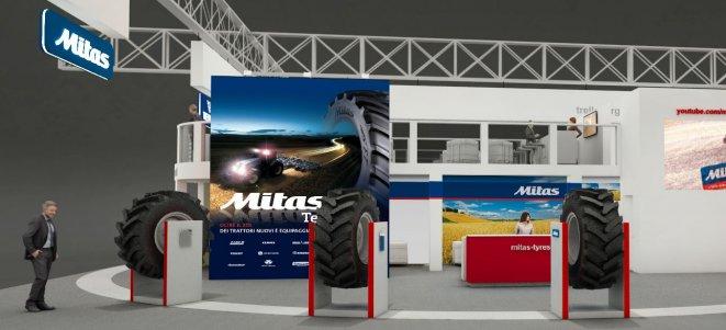 Mitas na výstavě EIMA s aplikací pro chytré telefony a širokým portfoliem zemědělských pneumatik