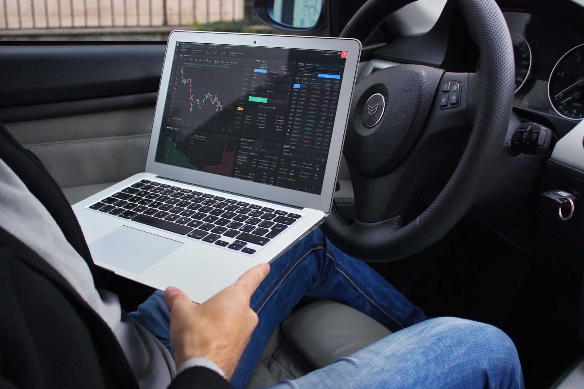 cryptocurrency-trading-easy-in-car