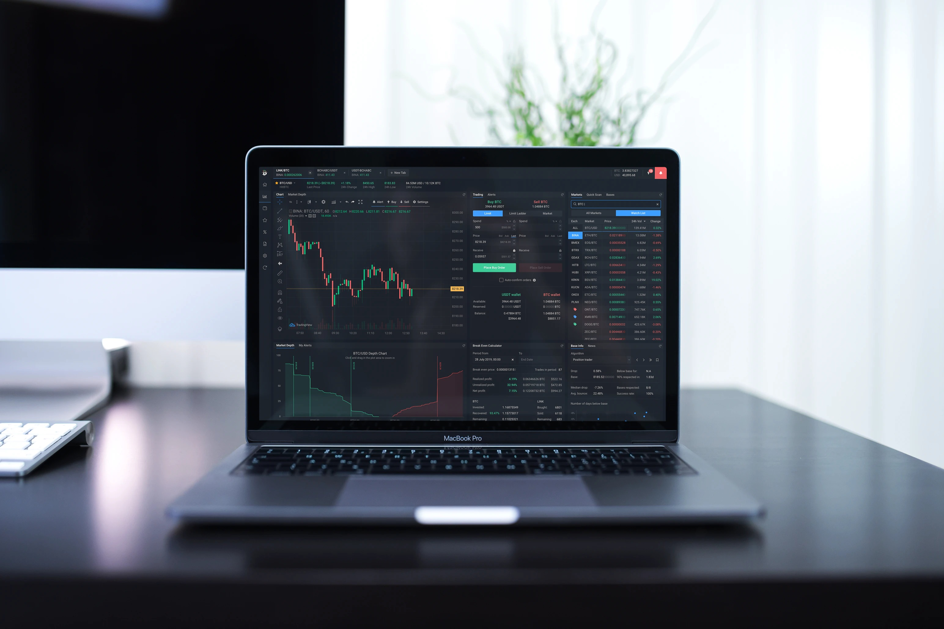 cryptocurrency-exchange-trade-dashboard