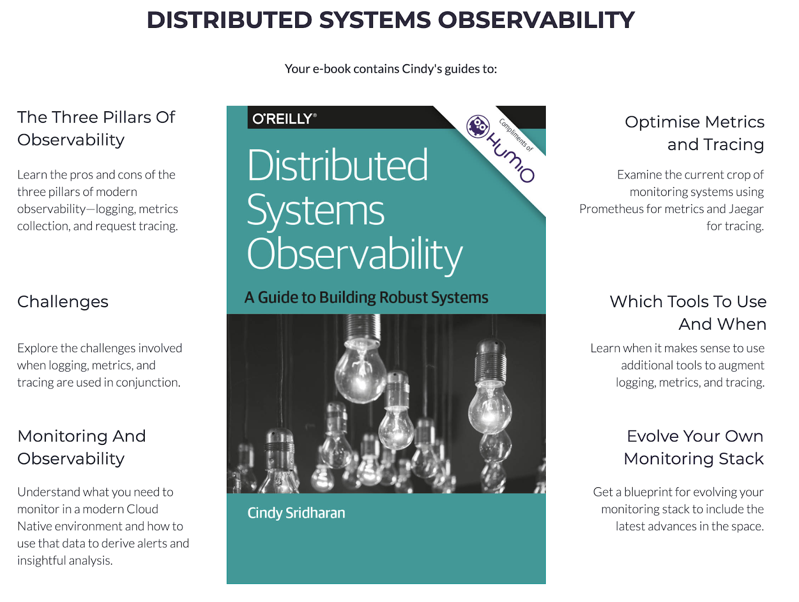 Distributed Systems Observability e-book by O'Reilly