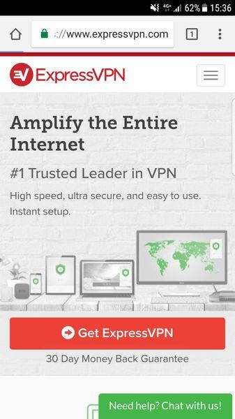 ExpressVPN's homepage
