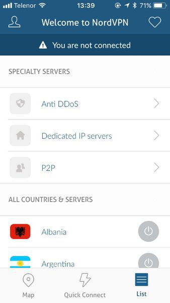 Or simply select a server from the list