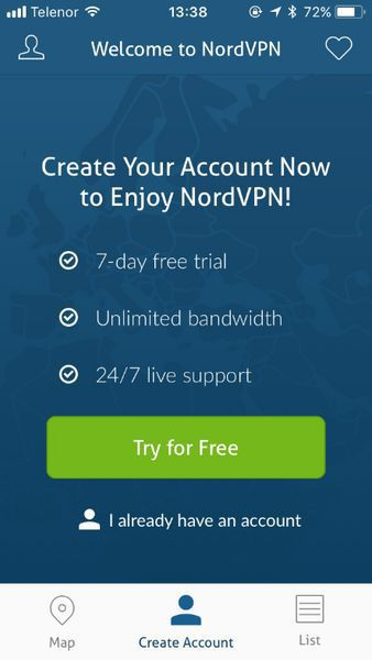 Log in with your created account