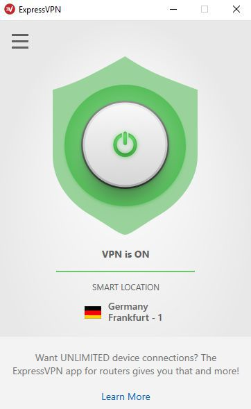 The VPN is on