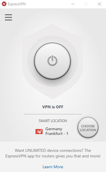 Click the power button to enable the VPN