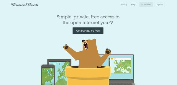 TunnelBear offers great free services