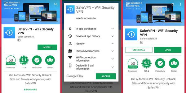 Download the SaferVPN app