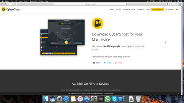 Download CyberGhost for Mac