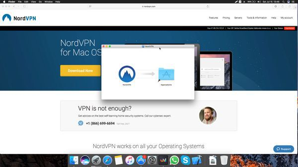 Choose where to install NordVPN