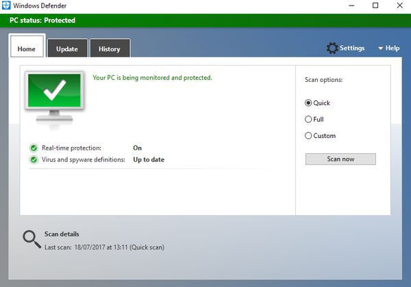 Use an antivirus software to avoid infections