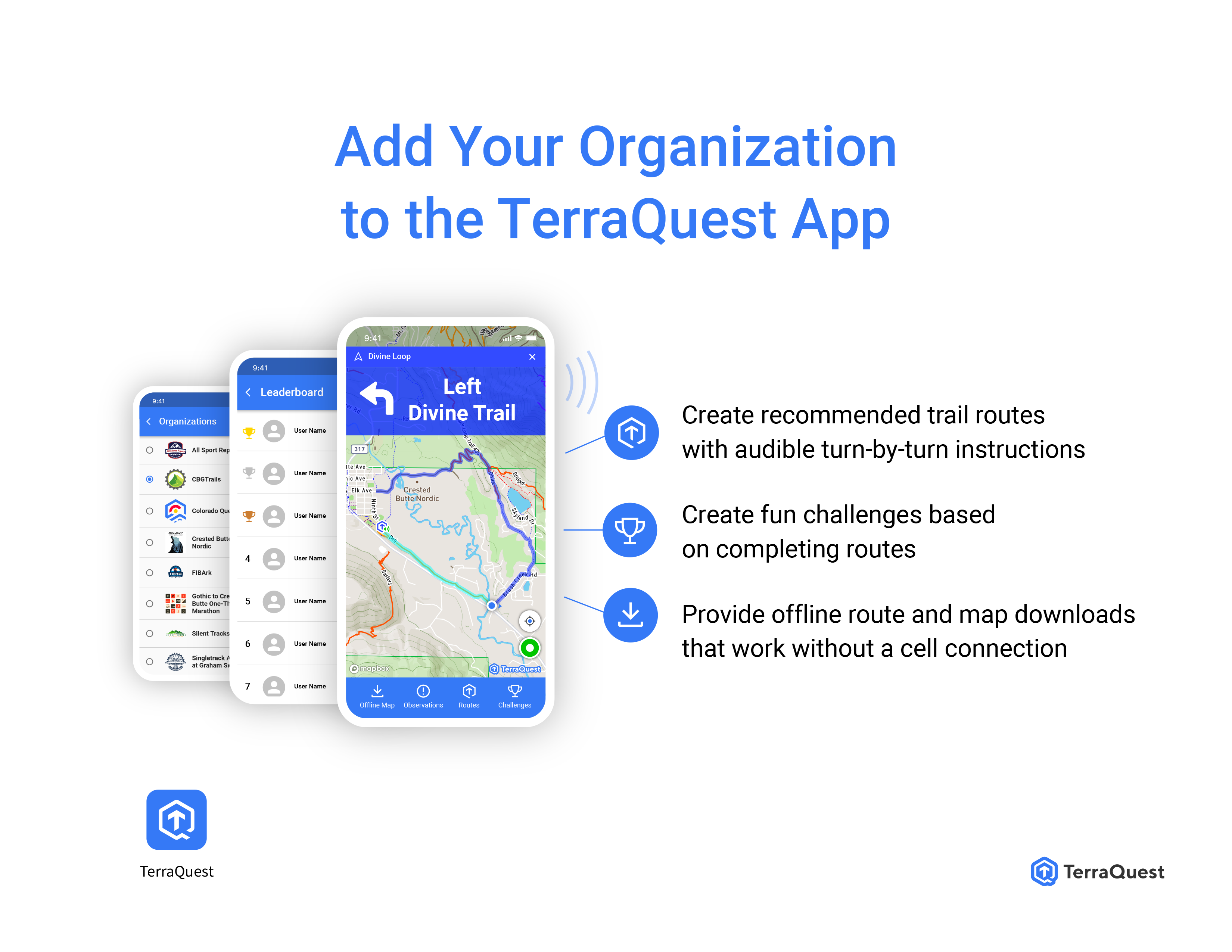 Add your organization to TerraQuest