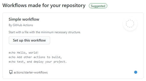 Workflow GitHub template