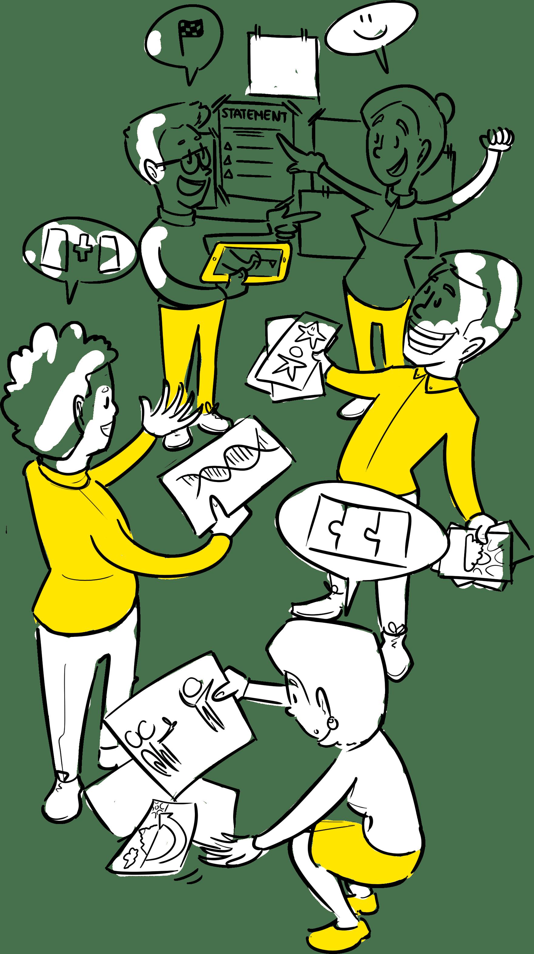 gedeeld beeld ontwikkelen praatplaat tekenen strategie uitwerken visieplaat maken
