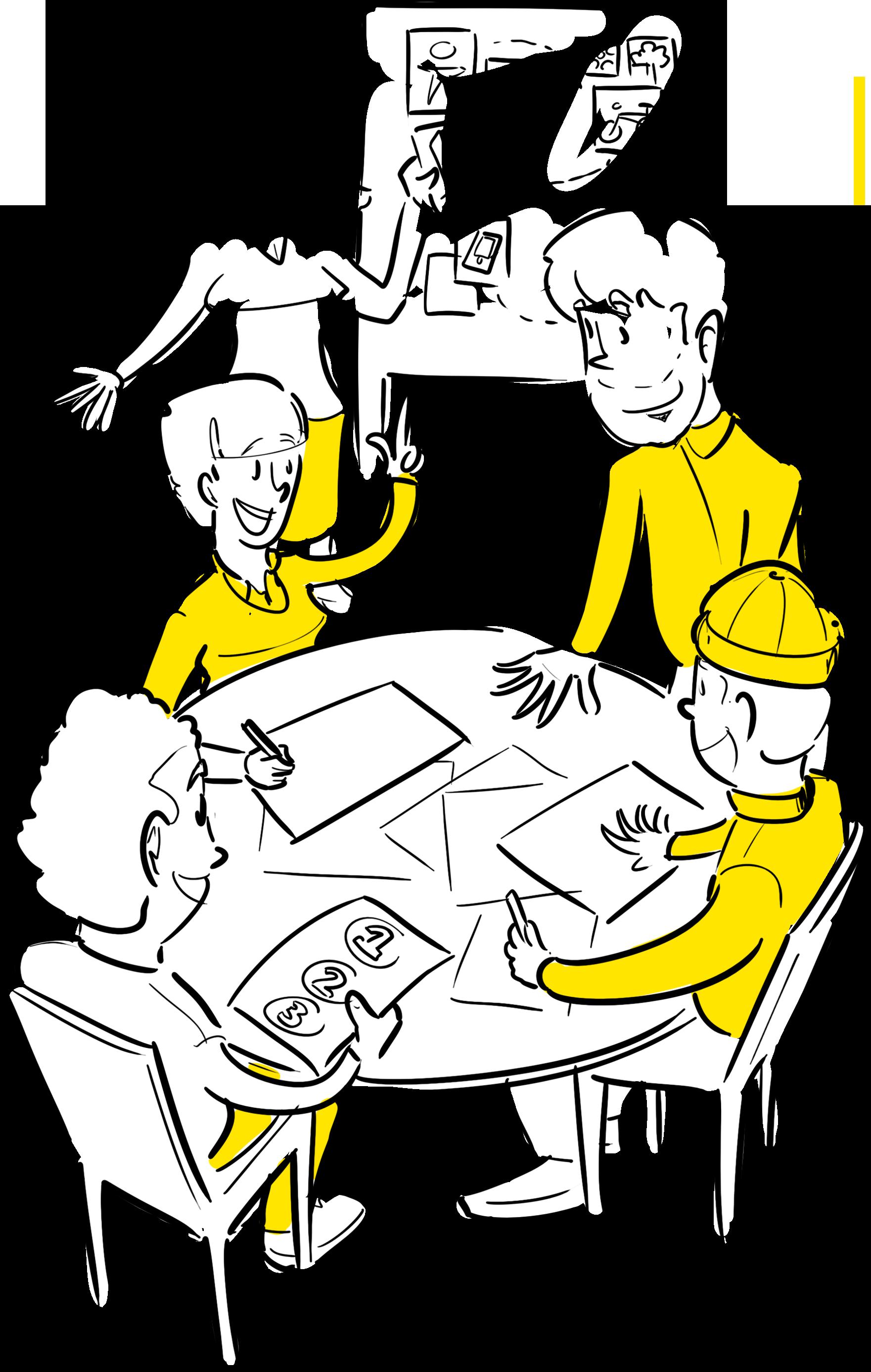 samen visueel verhaal ontwikkelen gedragen beeld strategie tekeningen praatplaat animatie Den Haag customer journey klantreis uitstippelen voorbeeld